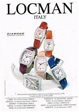 Publicité Advertising 2002 Les Montres Locman Diamond