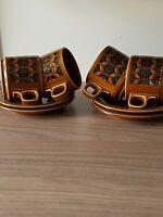 Hornsea Heirloom Brown 4 x Cups & Saucers