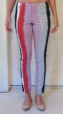 sass & bide Skinny Striped Stretch Pants Size 38 Brand New, 1970's Inspired
