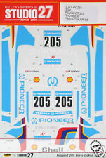 STUDIO 27 DECAL TAMIYA 1/24 PEUGEOT 205 PARIS DAKAR 88 PIONEER