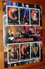 Chicago Film Eritrea 2003 Stamp Sheet VFU Richard Gere Catherine Zeta Jones etc