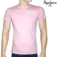 PEPE JEANS Tee shirt rose homme taille S