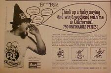 "1965 REVELL"" ED BIG DADDY ROTH"" ODDBALL RAT FINK~TWEEDY MODEL KITS 10.5 x 7"" AD"