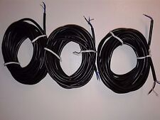 (3 Pck) Shielded 2 Conductor Guitar Hookup Wire w/ Bare Ground-20' Roll - 22 AWG