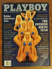 Playboy January 1992 Suzi Simpson centerfold Playmate Review Swedish Bikini Team