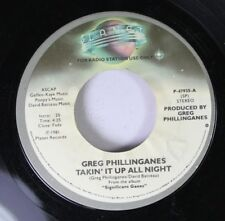 Soul Promo 45 Greg Phillinganes - Takin' It Up All Night / Takin' It Up All Nigh