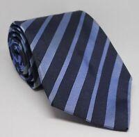 Burberry Krawatte Blau gestreift 152x9 cm 100% Seide -28