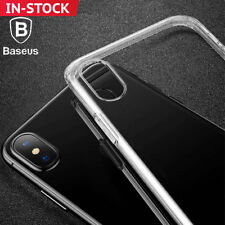 iPhone X Case, Genuine BASEUS Shockproof Hybrid Crystal Bumper Cover for Apple