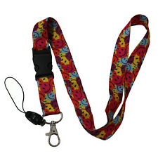 Wholesale Lanyard 12 lots Key Strop ID Holder Color Smail Face