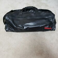 Black Wilson Faux Leather Duffle Gym Bag