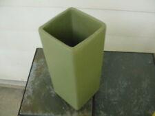 """McCoy Floraline O.D. Green vase #448  8 3/8"""""""