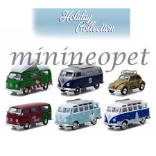 GREENLIGHT 51077 HOLIDAY COLLECTION VW VOLKSWAGEN 1/64 DIECAST SET OF 6 CARS