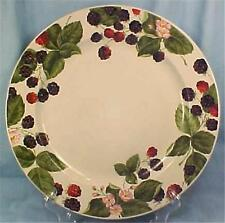 Raspberry Social Dinner Plate Tienshan Stoneware Berries Leaves Flowers Nice