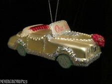 BLOWN GLASS~OUR 1ST CHRISTMAS TOGETHER~WEDDING CAR~JUST MARRIED~ORNAMENT~NWT