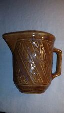 BROWN STONEWARE PITCHER MARKED U.S.A. w/TIN-LEAD GLAZE - EXC.COND.