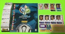 Panini Germany 2006 Soccer Complete Loose Stickers Set + Empty Album + Updates