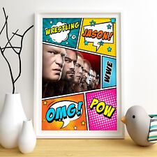 WWE STARS Personalised Poster A4 Print Wall Art Custom Name ✔ Fast Delivery ✔