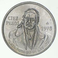 SILVER - WORLD COIN - 1978 Mexico 100 Pesos - World Silver Coin *872