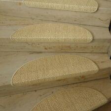 """Premium Stufenmatte Sisal """"IC Loop Fb 14 Sand"""" Naturfaser mit Metallwinkel"""