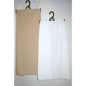 NEW M & S cool comfort waist half slip lace trim white size 14 26 length