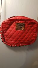 NWT Red Faux Leather bag from REFRESH with Studs Chain Strap across shoulder