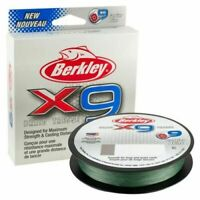 BERKLEY X9 BRAID FISHING LINE -164 YARD SPOOLS