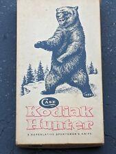 Old Vtg Case XX Kodiak India Stag Handle Hunter Knife W/Sheath In Original Box