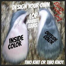 Lop Rabbit Ears - Faux Fur - Cosplay - Fursuit - Head - Dress Up - Bunny Ears -