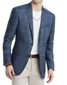 Tommy Hilfiger Mens Suit Seperate Blue Size 46 Long Blazer Two Button $295 084
