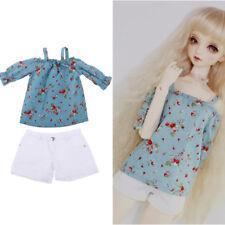 1/3 BJD Smart Doll Clothes for Dollfie DOD SD Floral Bare Shoulder Top Pants