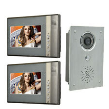 7 Inch Video Door Phone Doorbell Intercom system video interphone 2-Monitor