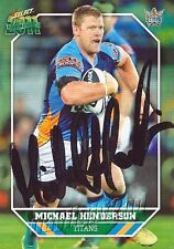 ✺Signed✺ 2011 GOLD COAST TITANS NRL Card MICHAEL HENDERSON