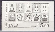 Faroe Is. 1983 19th Century Chess Pieces Complete Booklet SG81-2 x 3 Cat £11.40