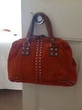 Micheal Kors Bag suede stud bag. Fab burn orange suede & tan leather
