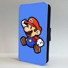 Retro Super Mario Nintendo Juego Funda para Estuche de Teléfono Abatible IPHONE SAMSUNG