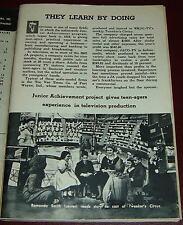 TV ARTICLE~JUNIOR ACHIEVMENT~RAMONDA SMITH~TEE VEE TEENS WKJG FORT WAYNE,INDIANA