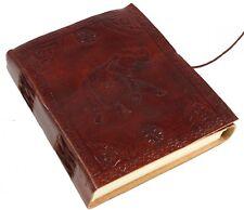 Lederbuch Mittelalterbuch Notizbuch aus Leder Notizbuch mit Elefanten Motiv