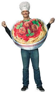 ADULT GET REAL SPAGHETTI AND MEATBALLS ITALIAN FOOD COSTUME GC6834