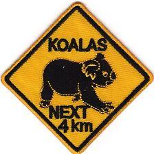 Aufnäher Bügelbild Iron on Patches  Koalas Next 4 km Australia Australien a3l6