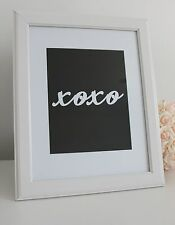 Typography 'xoxo' Quote Art Print A4 Modern Wall Art Home Decor Black White