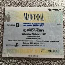 Madonna ticket Wembley 21/07/90 Blonde Ambition  tour #011017