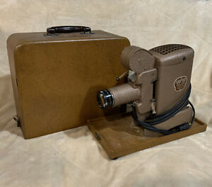 VTG Antique Untested AMPRO Dual Slide Projector Model 30 D with Carry Case Kodak