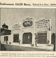 ORANGE GARAGE MARIUS GALON FORD MATHIS FORDSON PUBLICITE ADVERTISING 1920 ?