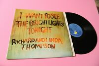 Richard And Linda Thompson LP I Want To See UK NM Laminated Cover