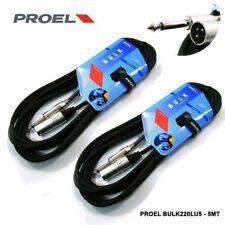 Proel Bulk220lu5 Coppia cavi Audio professionale Cannon XLR Jack 2 Unita  b95db65dff03