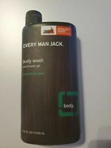 Every Man Jack Body Wash Shower Gel Eucalyptus Mint 16.9 oz 500 ml