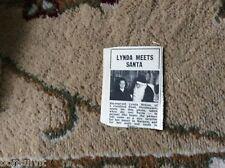 k1-6 ephemera 1966 picture lynda mcgee birchington meets santa
