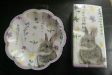 Bunny napkins and paper plates (new) ...