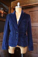VTG CHANGING SCENE Womens Dark Blue 100% Cotton Corduroy Blazer Size 10
