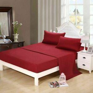 Burgundy Solid Split Corner Bedskirt Choose Drop Length US Size 800 Count